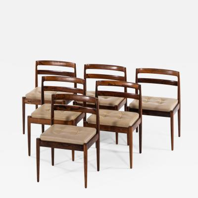 Kai Kristiansen Dining Chairs Model 301 Universe Produced by Magnus Olesen
