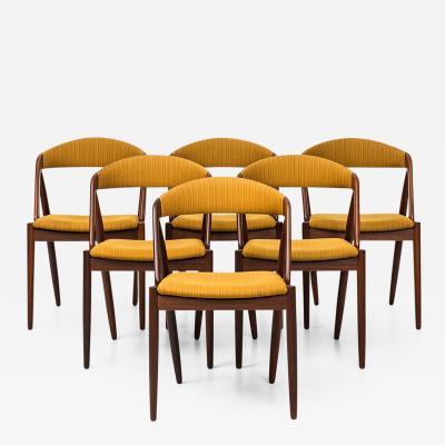 Kai Kristiansen Kai Kristiansen Dining Chairs by Schou Andersen in Denmark