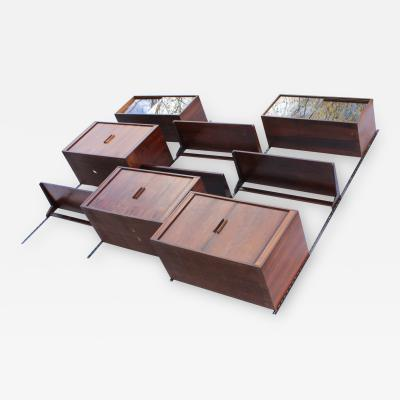 Kai Kristiansen Kai Kristiansen For FM Mobler Rosewood Wall Mounted Wall Unit