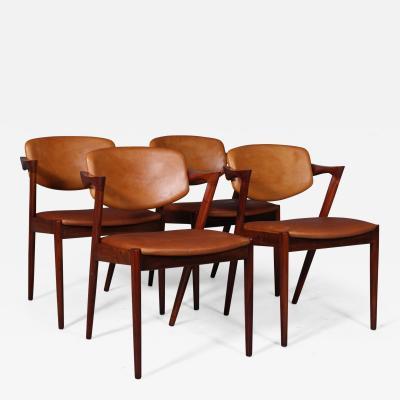Kai Kristiansen Kai Kristiansen Four rosewood armchairs model 42 4