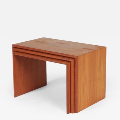 Kai Kristiansen Kai Kristiansen set tables Teak 70s Vildbjerg M belfabrik