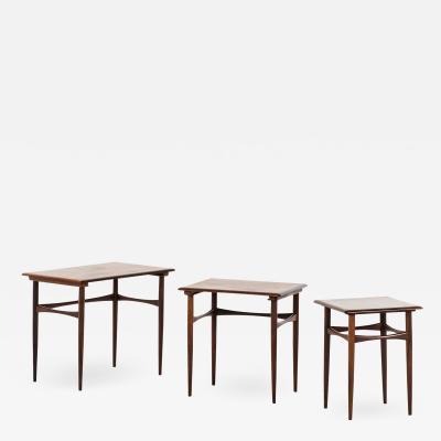 Kai Kristiansen Nesting Tables Produced by Skovmand Andersen