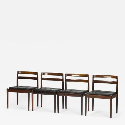 Kai Kristiansen Set of 4 Kai Kristiansen Chairs Model Universe Rosewood