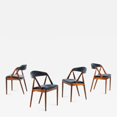 Kai Kristiansen Set of 4 Rosewood Dinning Chairs by Kai Kristiansen 1960s