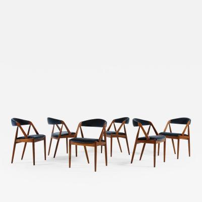 Kai Kristiansen Set of 6 Oak Dinning Chairs by Kai Kristiansen 1960s