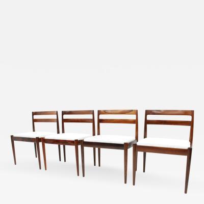 Kai Kristiansen Set of Four Dining Chairs Universe 301 by Kai Kristiansen for Magnus Olesen