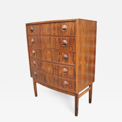 Kai Kristiansen Small Rosewood Five Drawer Dresser by Kai Kristiansen