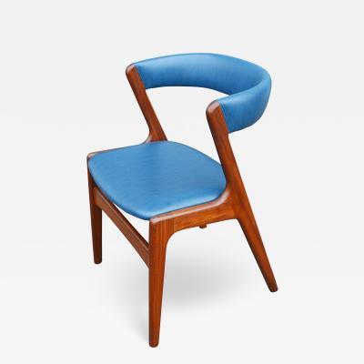 Kai Kristiansen Solid Afromosia Teak Curved Back Desk Chair Model T21 by Kai Kristiansen