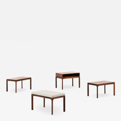 Kai Kristiansen Tables and Stool Produced by Aksel Kjersgaard