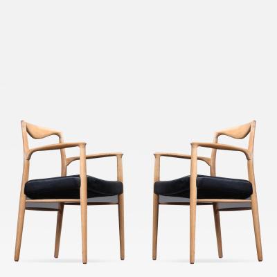 Kai Lyngfeldt Larsen Kai Lyngfeldt Larsen Pair of Oak Sculptural Arm Chair