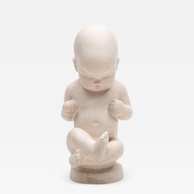 Kai Nielsen Sculpture of Baby Attributed to Kai Nielsen Sweden 1920s