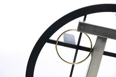 Kaizo Oto Kaizo Oto for Design Institute of America Geometric Post Modern Coffee Table