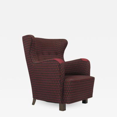 Kaj Gottlob 1937 Kaj Gottlob for A J Iversen Lounge Chair Original Fabric