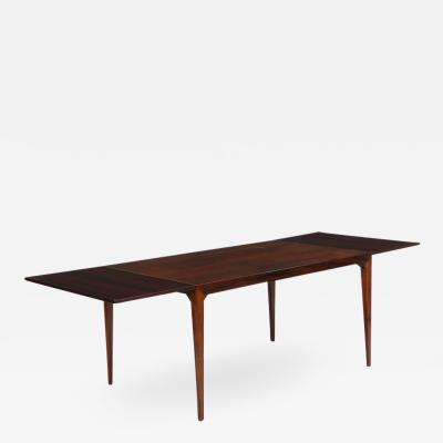 Kaj Winding Rosewood dining table by Kaj Winding Denmark 1960s