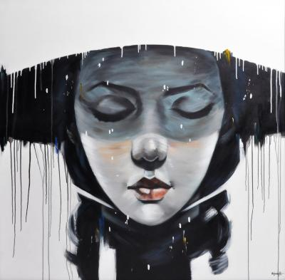 Kajohnjit Yanaphan Face Contemporary Painting of a Woman