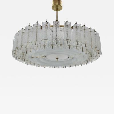 Kamenicky Senov Extra Large Glass And Brass Chandelier By Kamenicky Senov