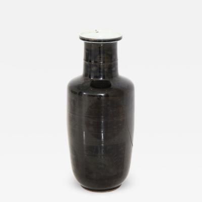 Kangxi Period Black and Gilt Porcelain Vase