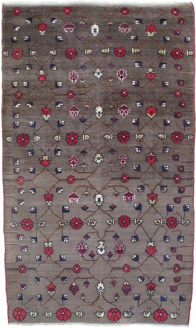 Karapinar Rug with Flower Lattice Design DK 73 29