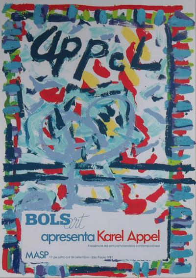 Karel Appel Karel Appel Lithograph for the Bols Art Exhibition Brazil 1981