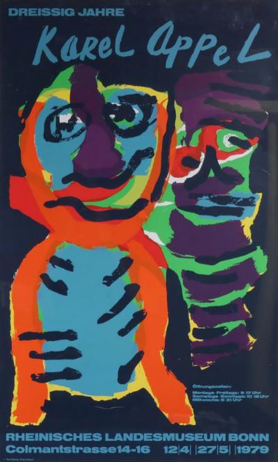 Karel Appel Karel Appel Silk Screen for the Rheinisches Landesmuseum Bonn Germany 1979