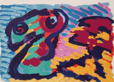 Karel Christiaan Appel Untitled Snake