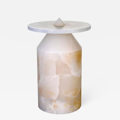 Karen Chekerdjian Totem Coffee Table in White Onyx