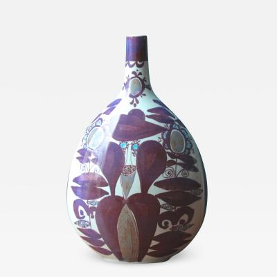 Kari Christensen Faience Bottle Vase by Kari Christensen for Royal Copenhagen