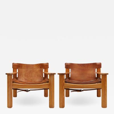 Karin Mobring Leather Lounge Chairs Natura by Karin Mobring