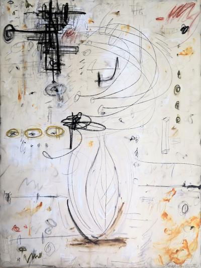 Karina Gentinetta Changes of Seasons Original Abstract Painting in Earth Tones 48 x 36