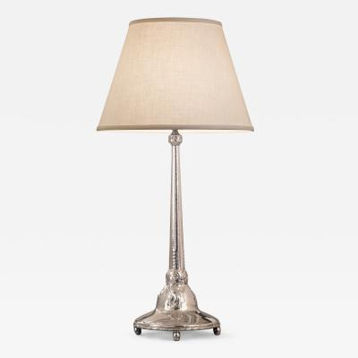 Karl Anderson Karl Anderson A Swedish Grace Period Hammered Silver Table Lamp