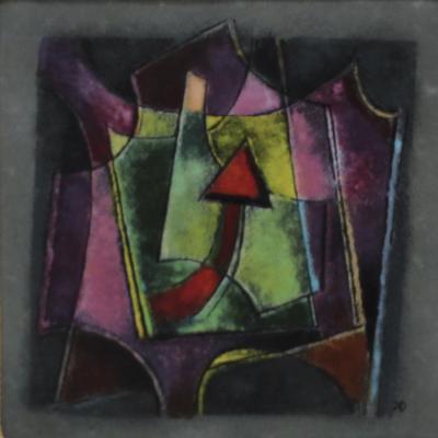 Karl Drerup Karl Drerup Enamel On Copper Modern Artwork