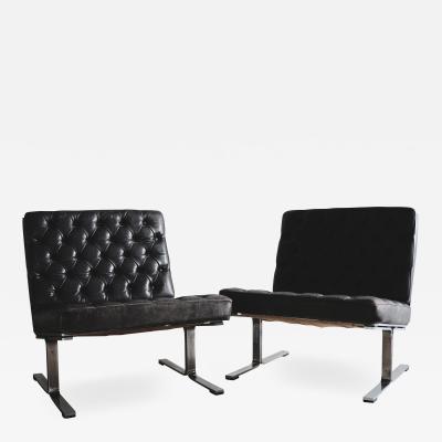 Karl Erik Ekselius Easy chairs Mod F60 by Karl Erik Ekselius for JOC