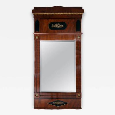 Karl Friedrich Schinkel Early 19th Century German Neoclassical Biedermeier Mahogany and Gilt Mirror