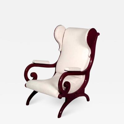 Karl Friedrich Schinkel German Biedermeier Mahogany Wing Chair