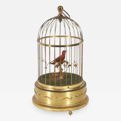 Karl Griesbaum Karl Griesbaum German Brass Singing Bird Cage Music Box Marked Kg Ken D