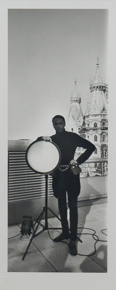 Karl Lagerfeld Original photograph of Eric Wright by Karl Lagerfeld