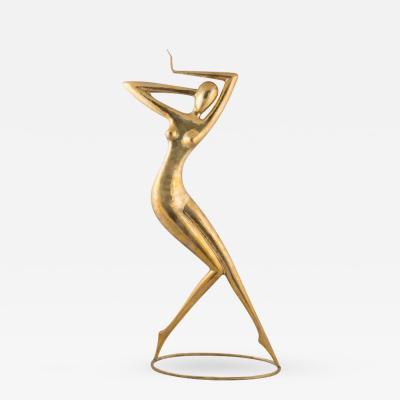 Karl Schmidt Karl Schmidt Dancer Hammered Brass former Hagenauer 2014
