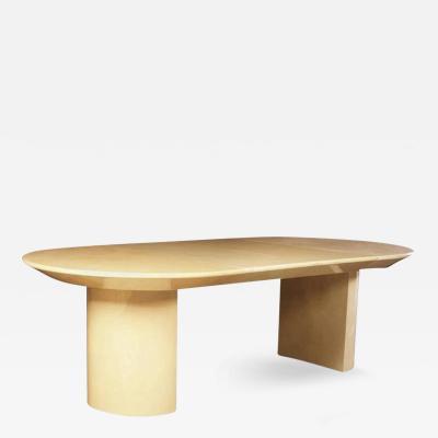 Karl Springer 1970s Extension Table in Lacquered Goatskin by Karl Springer