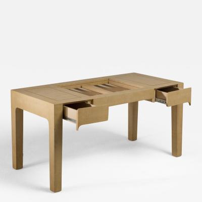 Karl Springer A Karl Springer Designed Backgammon Table Signed 1988