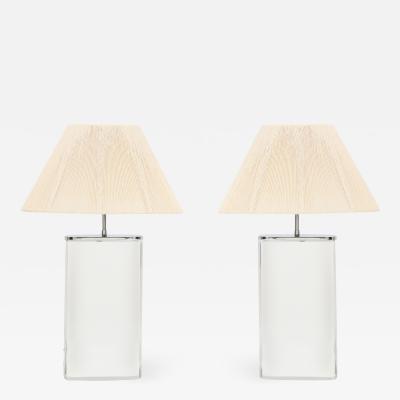 Karl Springer A Pair of Karl Springer Lucite Lamps Circa 1980s