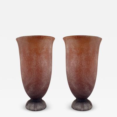 Karl Springer American Mid Century Modern Monumental Art Glass Vase