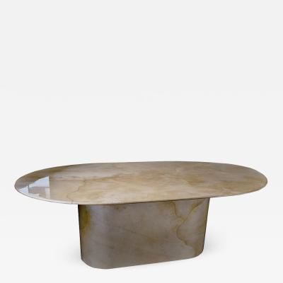 Karl Springer American Modern Goatskin Dining Table