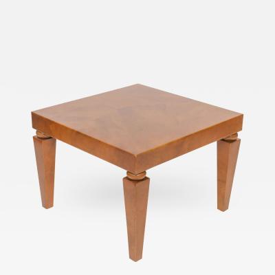 Karl Springer American Modern Goatskin Occasional Table Karl Springer