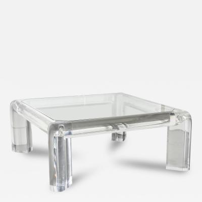 Karl Springer American Modern Lucite and Glass Mark ii Low Table Karl Springer