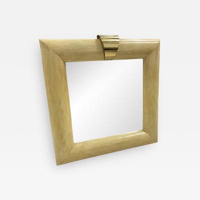 Karl Springer Bone Tile Karl Springer Wall Mirror