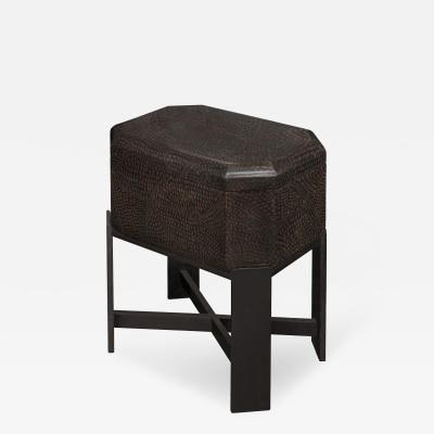 Karl Springer Chic Lacquered Box on Stand by Karl Springer