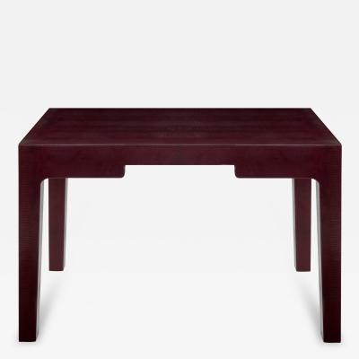 Karl Springer Chinese Parsons Style Desk by Karl Springer