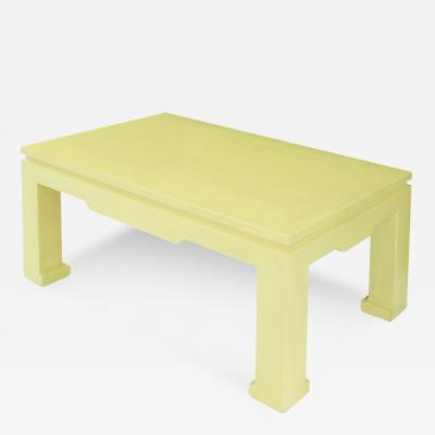 Karl Springer Chinese Style Coffee Table in Yellow Python by Karl Springer
