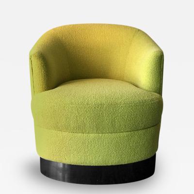 Karl Springer Club Lounge Chair on Castors by Karl Springer