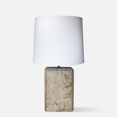 Karl Springer Coquina Stone Lamp